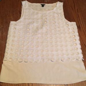 Ann Taylor Sleeveless Top size Small Lace